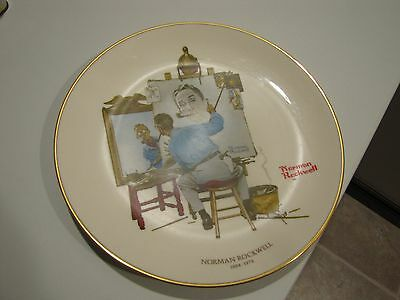 Norman Rockwell Plate 10 inch, 1978 Saturday Evening Post, Indianapolis, IN