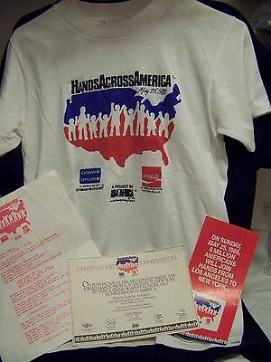 Hands Across America T-shirt and documents