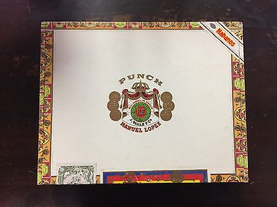 Punch Royal Coronation Manuel Lopez paper covered Wooden Cigar Box