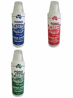 Fish Pond Water Treatments 500ml or 1L Clear Water Algae Killer Water Ager Koi