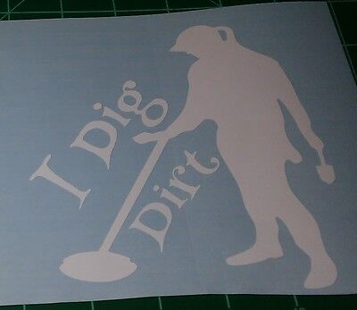 TWO GIRLs I  dig DIRT metal detecting sticker decal car window outdoor