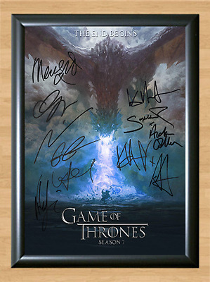 Game of Thrones Season 7 Cast x12 Signed Autographed A4 Photo Poster Memorabilia