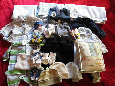 ☆ Baby Bundle Mixed Items Swaddles Wraps Clothing 0000-Newborn Socks Mittens Hat