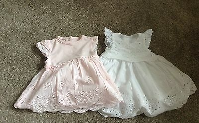 2 Baby Girls Dresses Nearly New 0-3 Months Mothercare
