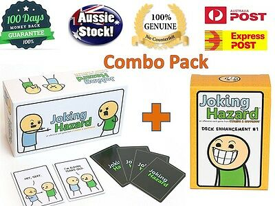 Joking Hazard Game Card Kickstarter Cyanide And Happiness Box + 1st expansion