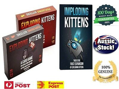 Exploding Kittens CARD GAME - Original / NSFW / IMPLODING KITTENS - AUSSIE Stock