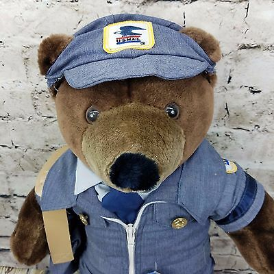US Mail USPS Post Office - Mailman - Letter Carrier - Plush Patriot Teddy Bear