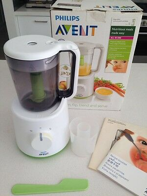 Philips Avent SCF870 Combined Baby Food Steamer and Blender - Good Condition.