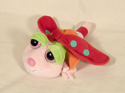 "Russ Berrie Butterfly 11"" Plush Named Flutters Big Plastic Eyes With Tush Tag"
