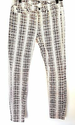7 FOR ALL MANKIND Women's Gwenevere Plaid Stretch Skinny Jeans 30 x 31 NICE!