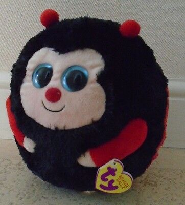 Ty Beanie Balls Buddy Size - Dots The Ladybird -New With Tags - 23Cm Diameter