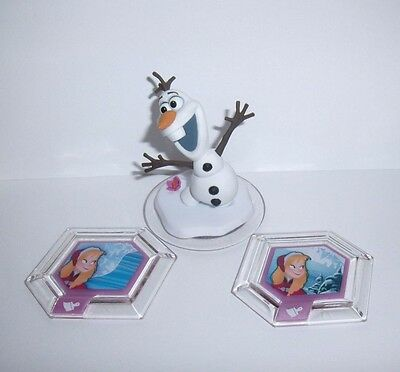 DISNEY INFINITY 3.0 Olaf Figure Character with Frozen Flourish Chill in Air Disc