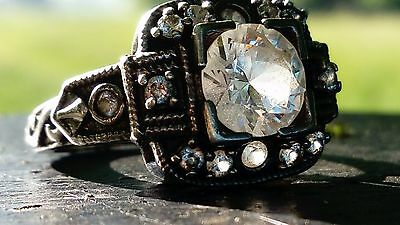 Beautiful Antique Solid Silver Very Old Hallmarked Ring, Interesting! FreeUKP&P
