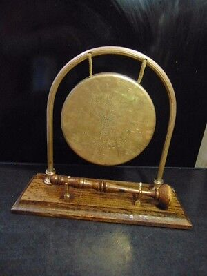 Vintage brass Dinner GONG with Striker