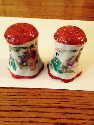 pair of antique Japanese salt&pepper shakers