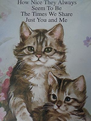 Gray Tabby Cat Wall Hanging Plaque Sealed Mother & Child Saying ~ FREE SHIPPING