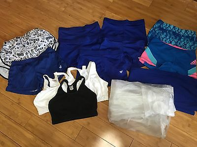 Huge Lot Varsity shorts small adult spandex Cheer Gymnastics Compression Blue