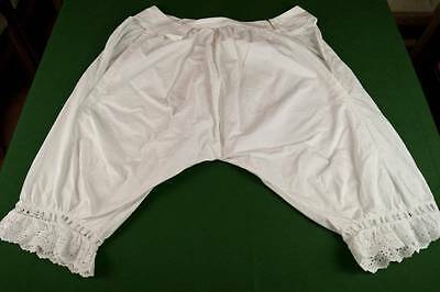 PAIR OF ANTIQUE VICTORIAN BLOOMERS KNICKERS Lace Trim