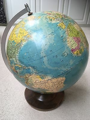 Large Globe by Rath Political, 1983 Made in GDR, Scale 1:38600000, 33cm diameter