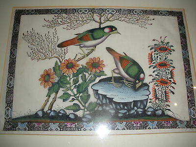 Vintage Chinese Pith Bird Painting #3 REVISED SHIPPING INFO.
