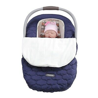 Car Seat Cover Baby Infant Canopy Soft Warm Winter Windproof Outdoor Travel New