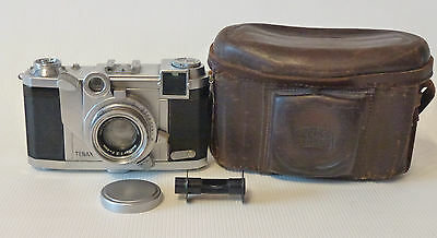ZEISS IKON Camera TENAX II Lens Sonnar 40mm F2 working with original case #89158