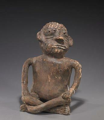 Pre-Columbian Pottery Seated Figure,