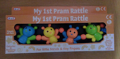 My 1st Pram Rattle by A-Z Toys, Fits most Prams & Bugges