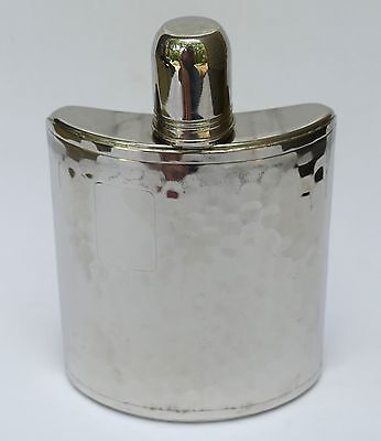 Vintage Hammered Stainless Steel 8 Ounce Pocket Flask Tin-Lined - Germany