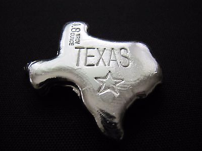 HACMint 4.8 oz 999+  Fine Silver TEXAS STATE Hand Poured ART BAR
