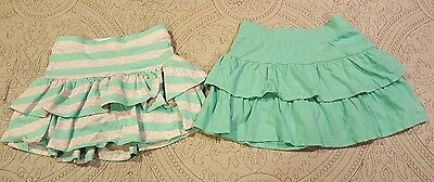 2 Girls Scooters size 6 Jumping Beans  Teal/Gray Stripe - Lot A19