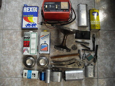 lot  vintage,  tools,Silver Plate, MACHINIST TOOL vintage & Collectable Tin