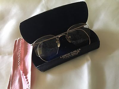 Antique 1920's Bausch & Lomb 1/10 12k Gold Filled Semi-Rimless Wire Glasses!