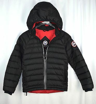 Canada Goose Youth Sherwood Hoodie 5070Y Reflective Youth M Authentic Black C11a