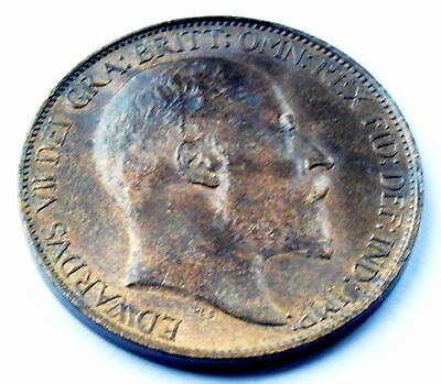 1902 King Edward Vii Halfpenny High Grade With  Lustre Coin