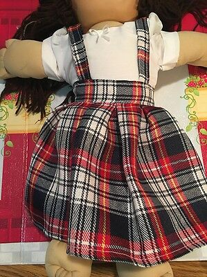 "Fits 16"" 18"" Cabbage Patch Kids doll Toy Clothes School Uniform Costume Plaid"