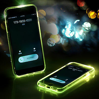 LED Flash Light UP Remind Incoming Call Shockproof Cover Case Fr iPhone 7 7 Plus