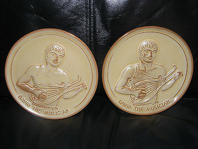 1974 FRANKOMA DAVID THE MUSICIAN Plate Youth for Christ Series Joneice Frank VTG