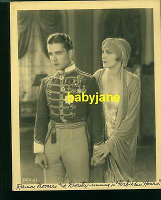 RAMON NOVARRO DOROTHY CUMMING VINTAGE 8x10 PHOTO 1928 FORBIDDEN HOURS DOUBLE WGT