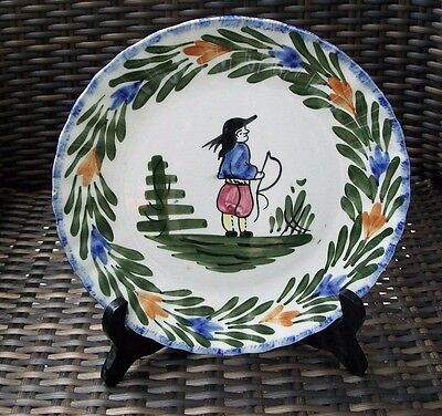 Vintage Blue Ridge Hand Painted Porcelain French Peasant Plate-Marked-WOW!