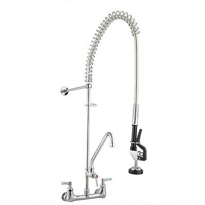 "Commercial Pre-Rinse Faucet w/ 12"" Add-On Faucet Kitchen Restaurant Dishwasher"