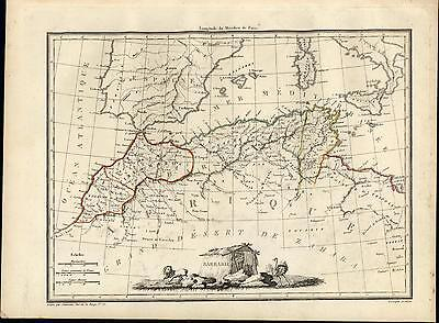 Barbary Coast Morocco Tunisia Algeria North Africa c.1830 antique map