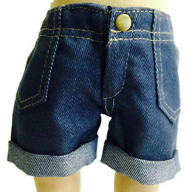 Denim Cuffed Jean Shorts made for 18 inch American Girl Doll Clothes