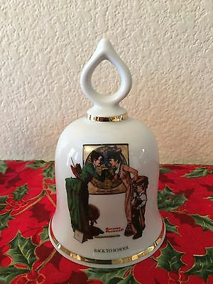 Wonderful World of Norman Rockwell 1979 German Bell- Back To School Bell.