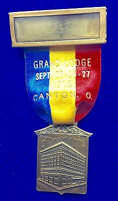 Antique 1922 Knights of Pythias Grand Lodge of Ohio Convention Pin Canton, OH