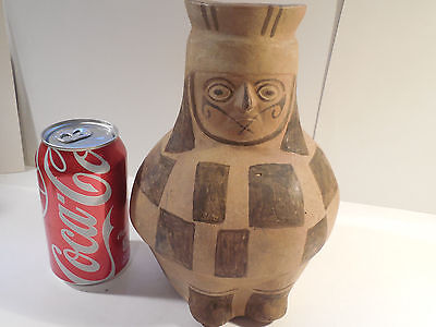 Moche Large Vessel Jug Mochica Peru Pre-Columbian Archaic Ancient Artifact Mayan