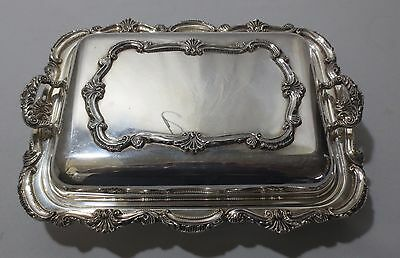 Vtg Silverplate W&S Blackinton Chippendale Divided Covered Serving Dish Ornate