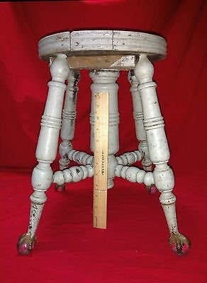 4 metal ball and claw legs partial piano stool parts piece