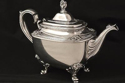 Vintage Silver Plate Rogers & Bros. Daffodil Flower Tea Pot Asthetic