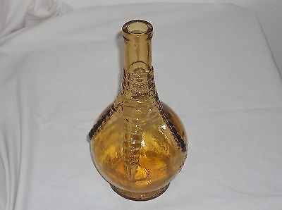 Vintage Large Wheaton Amber/yellow Glass Bottle Ball And Claw Bitters Medicine